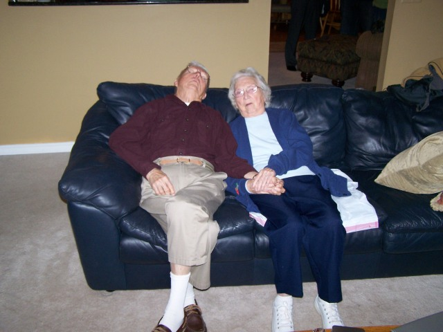 My mom and dad catching asnooze.