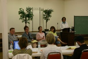 Panel discussion at Cedar Falls Writer's Workshop: Doc Hensley, Shelly Beach, Jolene Philo, Tracy Groot, Jean Vaux